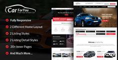 大气HTML5和CSS3汽车门户网站UI设计源码基于Bootstrap3x框架 - CarForYou
