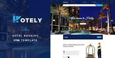 响应式酒店预订和旅游HTML5模板_在线预订酒店网站UI设计 - Hotely