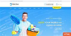 CSS3家政公司网站UI模板设计Bootstrap保洁公司官网PSD模板 - Make Clean