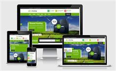 响应式HTML5主机域名服务商网站模板和WHMCS v7.1模板 - EcoHosting
