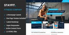 基于Bootstrap炫酷健身房HTML5模板_多风格健身房网站UI设计 - Stayfit
