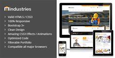 橙色风格工业和建筑业HTML5模板_Bootstrap响应式企业官网UI设计 - Industries