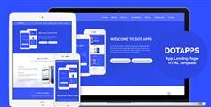 单页滚动APP手机软件官方网站模板_蓝色响应式app宣传介绍页面 - Dotapps