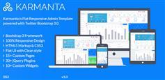 Bootstrap3响应式管理模板_漂亮的HTML后台模板 - Karmanta