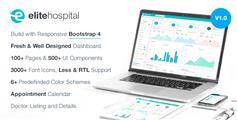 高端HTML5和CSS3后台模板_通用Bootstrap4管理模板框架 - Elite Hospital