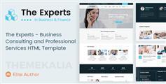 適用手機端HTML5網站模板_商業咨詢和專業服務公司HTML模板 - The Experts