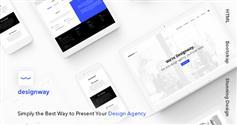 创意CSS3响应式设计师网站模板Bootstrap创意作品展示网站HTML框架 - Designway