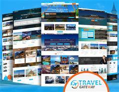 多套蓝色大气旅行社HTML5模板_高端CSS3旅游网站UI界面设计 - Travel Gateway