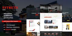 HTML5响应式房产网站模板9种风格CSS3房地产网站UI设计 - Estreto