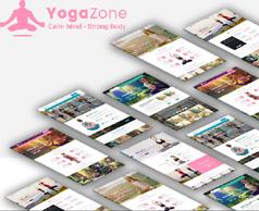 超级漂亮瑜伽馆网站HTML模板框架_多风格响应式瑜伽网站UI设计 - Yoga Zone