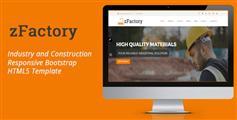 工业和建筑响应HTML5模板Bootstrap框架_宽屏大气企业网站模板 - zFactory
