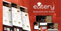 餐厅美食网站html模板_响应式餐厅网站html5模板 - Eatery