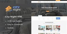 房地产租房售房网HTML模板_响应式房产中介官网模板 - CityNight