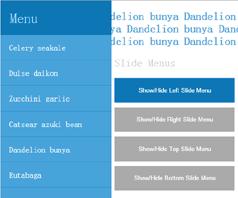 JQuery固定位置滑出隐藏菜单js特效侧边栏效果