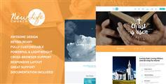兼容手机端教堂网站模板HTML下载_慈善机构非盈利组织网站UI - New Life