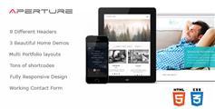大气全屏HTML5企业网站模板HTML5和CSS3响应式模板设计 - Aperture