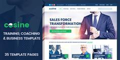 响应式培训指导业务网站模板_HTML5蓝色大气企业网站框架UI设计 - Cosine