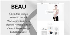 HTML5极简风格组合网站模板_案例展示网站html主题 - Beau