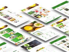 绿色大气餐厅咖啡店HTML模板_漂亮的果蔬餐饮网站模板HTML下载 - GoGreen