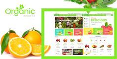 绿色水果网上商城模板HTML下载_果蔬电商网站HTML5模板 - Organic