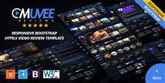 HTML5和CSS3电影网站模板设计_响应式Bootstrap视频网站模板 - Muvee