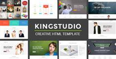 大气的企业网站HTML5模板UI设计_响应式企业网站模板 - Kingstudio