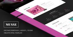 Html5单页视差效果工作室模板_有创意个人网站HTML5模板含PSD - Musse