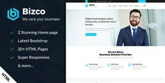 HTML5和CSS3企业网站模板_蓝色企业网站HTML模板 - Bizco