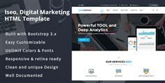 HTML5响应式企业网站模板_大气公司网站模板 - iSeo