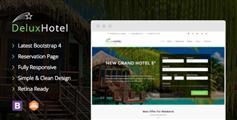 基于Bootstrap4框架酒店在线预订网站模板 - DeluxHotel