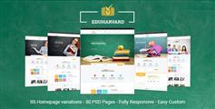 通用教育和课程网站HTML模板_培训学习网站模板 - Eduharvard