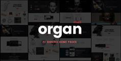 创意多功能商业金融HTML5响应网站模板 - Organ