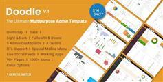 响应式Bootstrap后台模板框架_HTML5管理模板UI设计 - Doodle