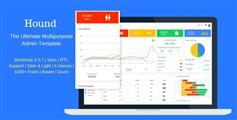 Hound - 多功能Bootstrap后台模板框架_响应式管理后台模板UI设计