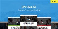 响应式多功能商务金融咨询会计行业企业HTML模板 - Specialist