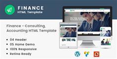 基于Bootstrap框架金融会计等行业企业网站响应式模板 - Finance
