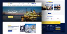工業企業網站模板響應HTML5企業模板 - Offshore