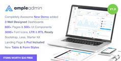 最新3套Bootstrap框架管理模板_响应式后台HTML模板 - Ample