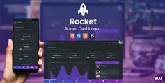 底部导航Bootstrap管理模板响应式后台黑色模板 - Rocket