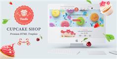 漂亮面包店网站HTML5模板响应式蛋糕店在线网站模板 - Vanila