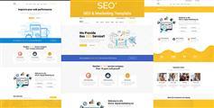 SEO优化服务公司官网模板Bootstrap企业网站响应模板 - SEO+