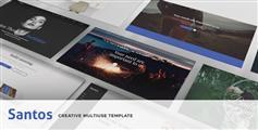 时尚大气的Bootstrap企业博客网站Html模板|Santos