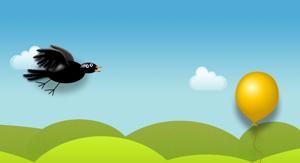 jquery动态的乌鸦飞翔动画jquery小鸟飞特效