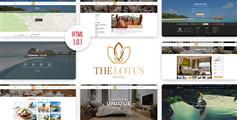 精美Bootstrap响应式酒店在线预订平台Html5模板|Lotus