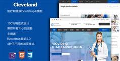 蓝色Bootstrap样式医院网站模板
