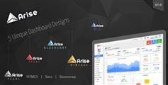 5套样式Bootstrap后台管理系统模板-ARISE
