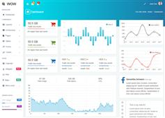 蓝色数据管理Bootstrap后台模板