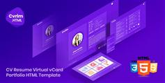 Bootstrap创意个人在线简历HTML模板
