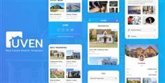 蓝色房产手机网站HTML模板