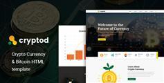 比特币加密货币bootstrap企业网站模板|Cryptod